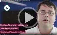 Was bedeutet die Verweisungsklausel in der BU-Versicherung?