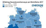 Hausratversicherung kostet Berliner und Hamburger am meisten