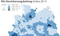 Regionale Preisunterschiede in der Kfz-Vollkasko bis zu 67 Prozent