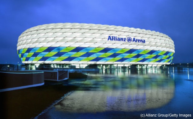 Allianz-Arena in München zum Champions-League-Finale 2012