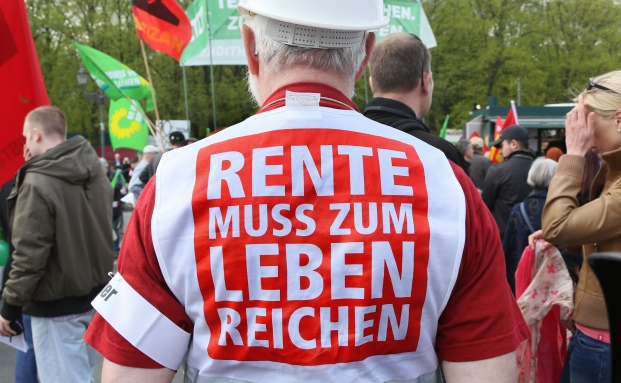 Demonstration gegen Altersarmut