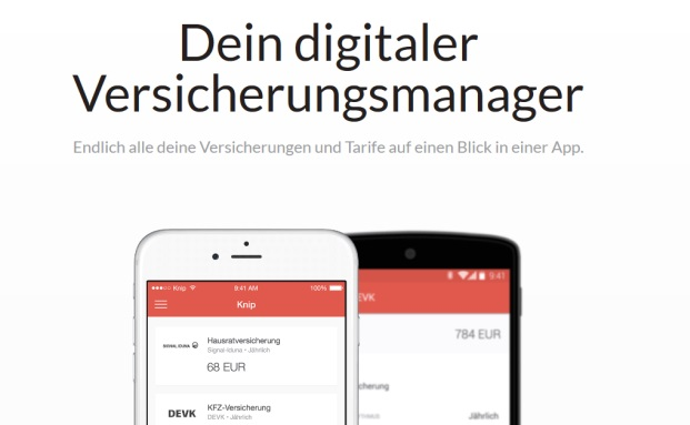 Screenshot der Knip-App.