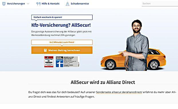 Allianz Benennt Online Versicherer Allsecur Um Pfefferminzia Das
