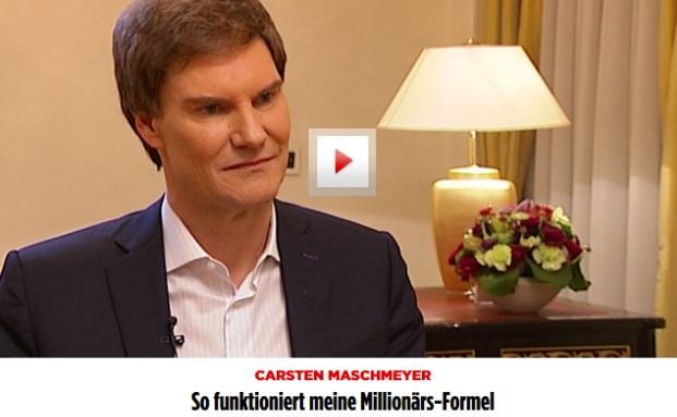 Carsten Maschmeyer erklärt seine Millionärsformel