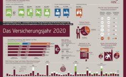 Die wichtigsten GDV-Kennzahlen zum Versicherungsjahr 2020