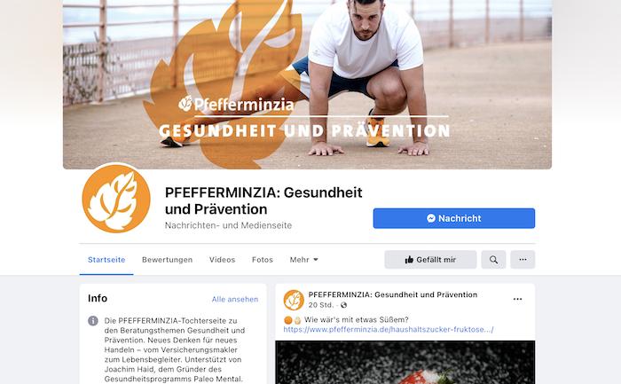 Fan-Page Gesundheit & Prävention