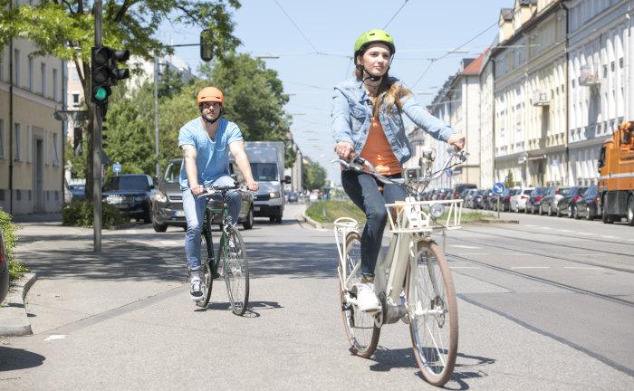 Viele Radfahrer kennen die Verkehrsregeln nicht